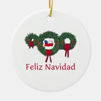 Navidad 2 de Chile Adorno Navideño Redondo De Cerámica