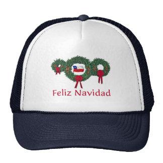 Navidad 2 de Chile Gorros Bordados
