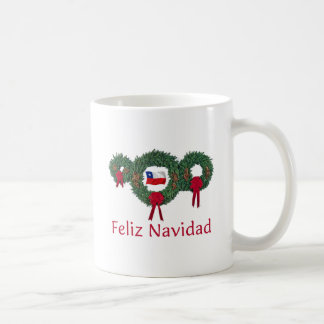 Navidad 2 de Chile Taza Básica Blanca