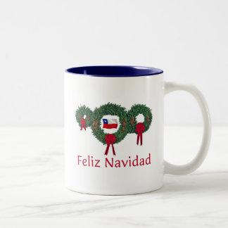 Navidad 2 de Chile Taza Dos Tonos