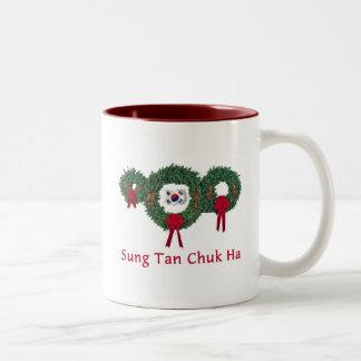 Navidad 2 de Corea Tazas