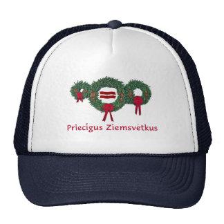 Navidad 2 de Letonia Gorro De Camionero