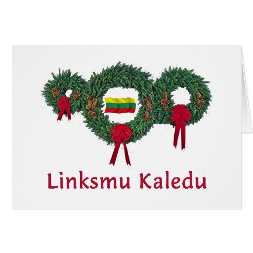 Navidad 2 de Lituania Tarjeta De Felicitación