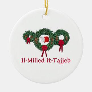 Navidad 2 de Malta Ornamentos De Navidad