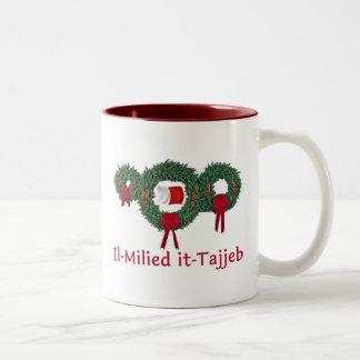 Navidad 2 de Malta Tazas De Café