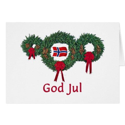 Navidad 2 de Noruega Tarjeta De Felicitación