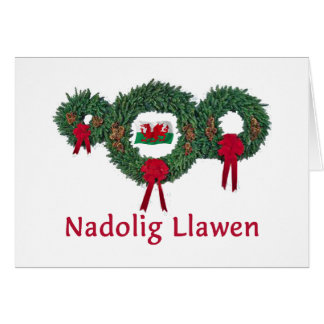 Navidad 2 de País de Gales Tarjeta De Felicitación