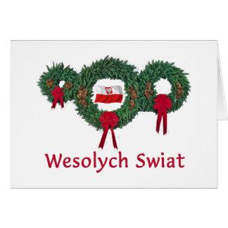 Navidad 2 de Polonia Tarjeta De Felicitación