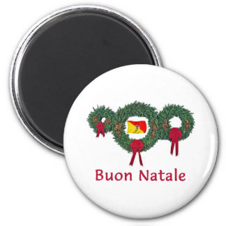 Navidad 2 de Sicilia Imán Redondo 5 Cm