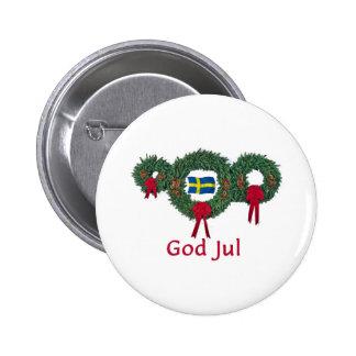 Navidad 2 de Suecia Pin Redondo 5 Cm