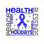 Navidad 4 copos de nieve de la artritis reumatoide postal