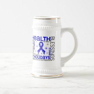 Navidad 4 copos de nieve de la artritis reumatoide tazas