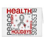 Navidad 4 copos de nieve de la diabetes juvenil tarjeta de felicitación