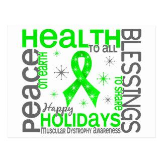 Navidad 4 copos de nieve de la distrofia muscular tarjetas postales