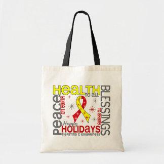 Navidad 4 copos de nieve de la hepatitis C Bolsa