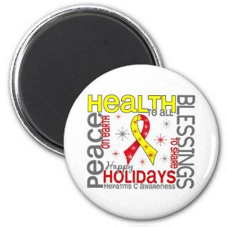 Navidad 4 copos de nieve de la hepatitis C Imanes Para Frigoríficos