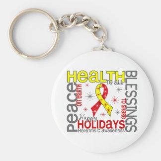 Navidad 4 copos de nieve de la hepatitis C Llavero Personalizado