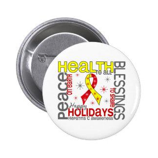 Navidad 4 copos de nieve de la hepatitis C Pins