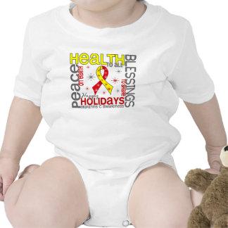 Navidad 4 copos de nieve de la hepatitis C Trajes De Bebé