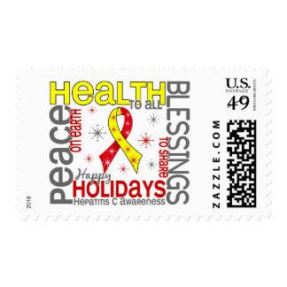 Navidad 4 copos de nieve de la hepatitis C Sellos