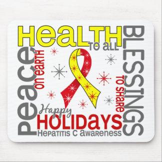 Navidad 4 copos de nieve de la hepatitis C Alfombrillas De Ratones