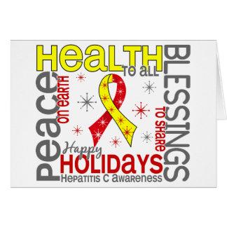 Navidad 4 copos de nieve de la hepatitis C Tarjeta