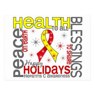 Navidad 4 copos de nieve de la hepatitis C Tarjeta Postal