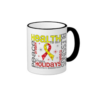 Navidad 4 copos de nieve de la hepatitis C Tazas De Café