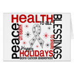 Navidad 4 copos de nieve del cáncer de hueso tarjeta