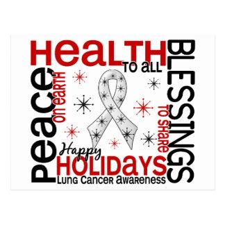Navidad 4 copos de nieve del cáncer de pulmón postales
