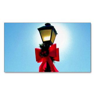Navidad 56 - LAMPPOST ~.jpg del DÍA DE FIESTA Tarjetas De Visita Magnéticas (paquete De 25)
