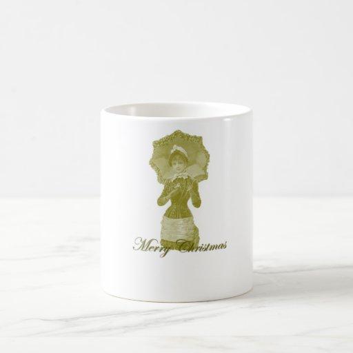 Navidad 8 del Victorian Tazas De Café