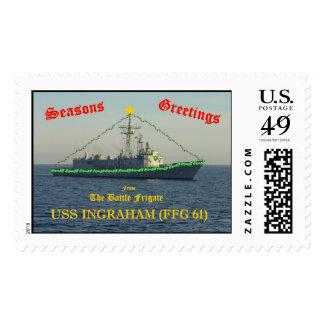 Navidad a bordo del USS INGRAHAM Timbres Postales