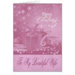 Navidad a la tarjeta de felicitación de la esposa