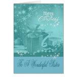 Navidad a la tarjeta de felicitación de la hermana