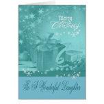 Navidad a la tarjeta de felicitación de la hija