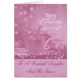 Navidad a la tarjeta de felicitación de la hija y