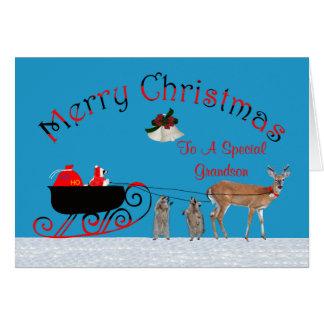 Navidad a la tarjeta de felicitación del nieto