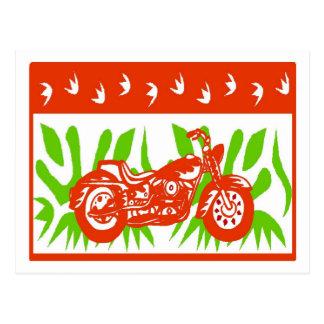 Navidad abstracto de la motocicleta tarjeta postal