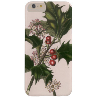 Navidad, acebo y bayas del vintage funda de iPhone 6 plus barely there