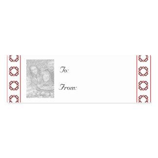 Navidad adaptable/etiqueta del regalo de la foto d plantilla de tarjeta de negocio