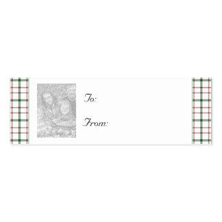 Navidad adaptable/etiqueta del regalo de la foto d tarjeta de negocio