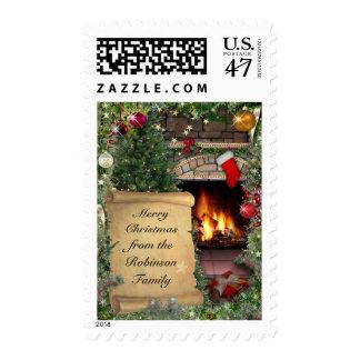 Navidad adaptable que saluda sello