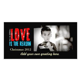Navidad adaptable tarjeta de felicitación de la fo tarjeta fotografica personalizada