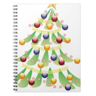 Navidad adornado tree2 libreta espiral