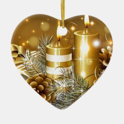 Navidad Adorno De Cerámica En Forma De Corazón