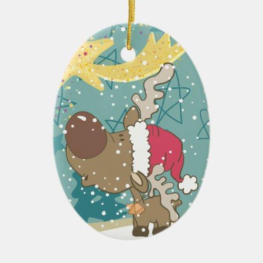 Navidad Adorno Navideño Ovalado De Cerámica