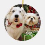 Navidad - afloramiento X Maggie - Shih Tzu X Gualt Ornamento Para Arbol De Navidad