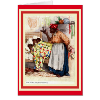 Navidad afroamericano Caed del vintage Tarjeta De Felicitación