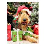 Navidad - Airedale - Kiehn Postales